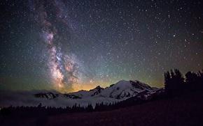 Картинка космос, звезды, пейзаж, ночь, пространство, млечный путь