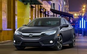 Обои Civic, хонда, 2015, цивик, седан, Honda