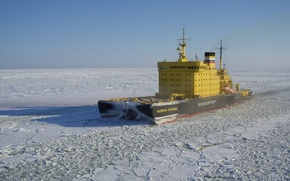 Обои ice-breaker, rosmorport, ship, baltic, kapitan sorokin, ice, sea