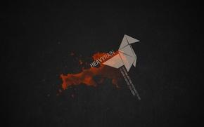 Обои heavy rain, оригами, вопрос
