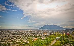 Картинка гора, Мексика, панорама, Монтеррей, Нуэво-Леон