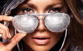 Картинка портрет, очки, бриллианты