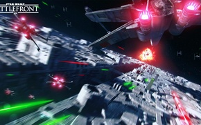 Картинка игры, Electronic Arts, DICE, X-Wing, Death Star, TIE-Fighter, star wars battlefront