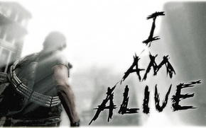Картинка огонь, мужик, разрушения, лук, game, alive, ubisoft, i am, герой игры