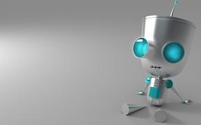 Обои руки, сидит, ноги, Робот, глаза
