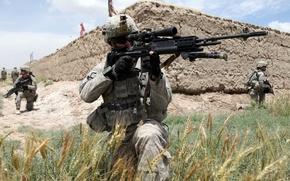 Картинка оружие, солдат, снайперка, M-14 EBR