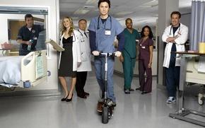 Обои сериал, Scrubs, клиника