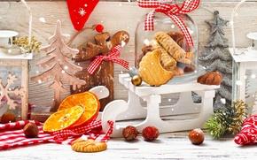 Обои merry, christmas, xmas, decoration, cookies, рождество