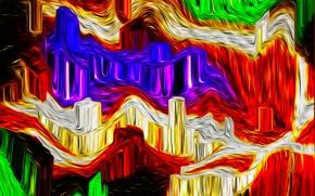 Картинка узор, краски, цвет, объем