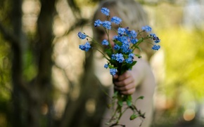 Обои цветы, рука, настроение
