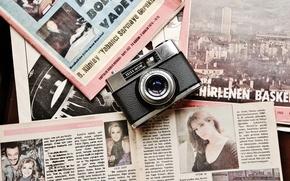 Обои фон, газеты, камера