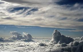 Обои небо, облака, пейзаж, небеса