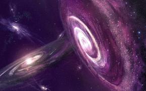 Картинка небо, звезды, туманность, вселенная, галактика