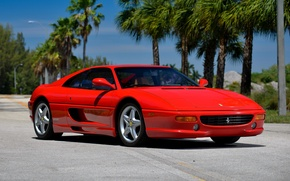 Обои феррари, F355, 1994, суперкар, GTS, Ferrari