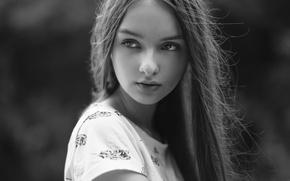 Обои взгляд, девушка, портрет