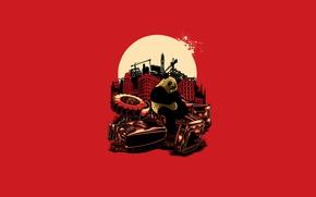Картинка Красный, Панда, blood, Red, kill, panda, Angry Panda