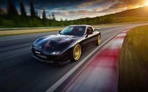 Картинка car, скорость, mazda, rx7, rx-7