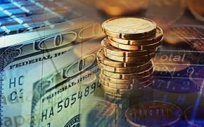 Картинка metal, money, dollar, coins, value