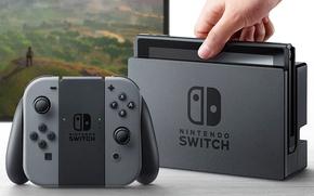 Обои joystick, screen, video game, Nintendo Switch, technology, console, Nintendo, hardware, game