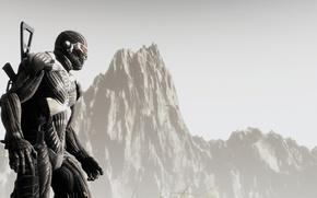 Обои crysis 2, броня, нанокостюм, солдат