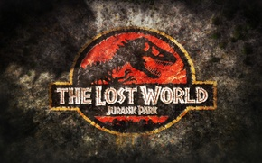 Обои the lost world, jurassic park, logo