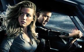 Картинка Николас Кейдж, Amber Heard, Эмбер Хёрд, Nicolas Cage, Сумасшедшая езда, Drive Angry
