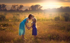 Обои дружба, Sisters, дети, девочки