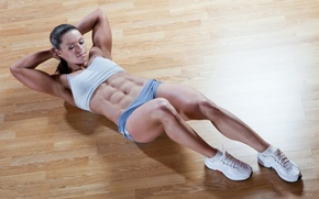 Картинка sexy, legs, muscle, workout, fitness, sportswear, exercises for abdomen