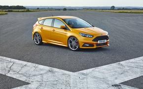 Картинка ford, yellow, focus