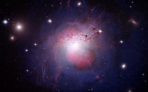 Картинка звезды, Космос, галактика, galaxy NGC 1275