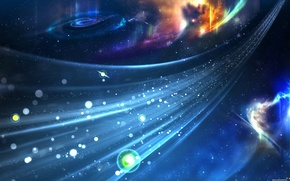 Обои звезды, синий, Поток