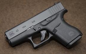 Картинка пистолет, оружие, австрийский, самозарядный, Glock 43