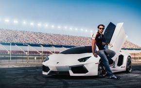 Картинка машина, авто, Lamborghini, фотограф, auto, photography, photographer, трибуны, Aventador, Charles Siritho, Fernando Barbachano