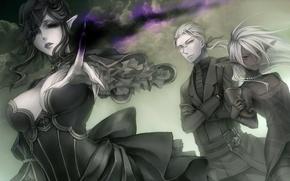 Картинка облака, магия, Эльфы, вуаль, вдова