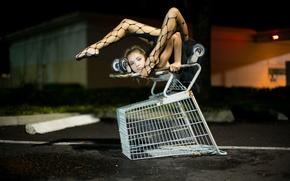 Картинка девушка, ситуация, коляска