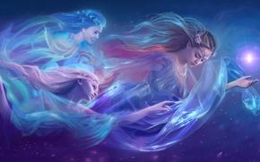 Обои fantasy, арт, девушки, фэнтази