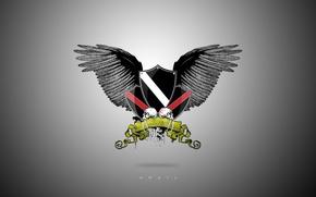 Картинка крылья, герб, empty