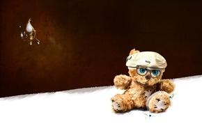Картинка игрушка, Мишка, очки