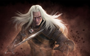 Картинка меч, ведьмак, The Witcher, geralt, Geralt of Rivia, cd projekt red