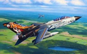 Картинка war, art, painting, jet, TORNADO IDS