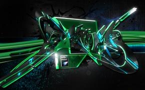 Картинка AMD, Graffiti, Phenom