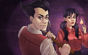 Картинка Wilson, Don't Starve, indie game, survival, Willow, Klei Entertainment