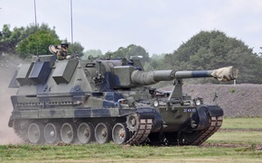 Картинка самоходная, бронетехника, гаубица, AS-90