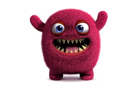 Картинка monster, face, funny, cute, fluffy