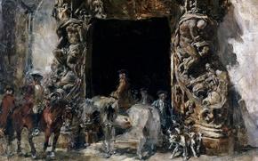 Картинка картина, скульптура, Ворота Дворца дель Маркес де Дос Агуас, Франциско Доминго Маркес