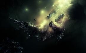 Картинка обломки, звезда, катастрофа