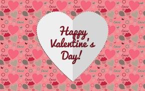 Картинка love, rose, heart, romantic, hearts, Valentine's Day, bow, 2015