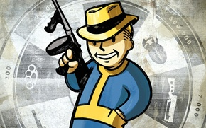Картинка Fallout, New-vegas, Vault Boy