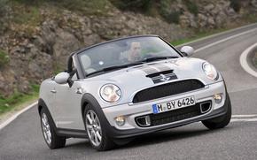 Картинка дорога, Roadster, Mini, кабриолет