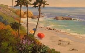 Картинка арт, Sean Wallis, Late Afternoon At Laguna